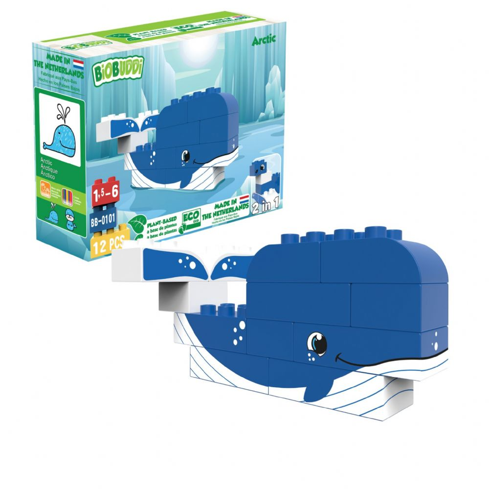 BiOBUDDi - Arctic Whale/Seal 2 in 1 - 12 Blocks